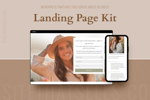 Divi Wordpress Funnel Templates - Landing Page Kit in Organic Colours
